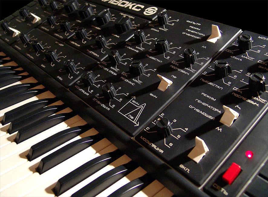 Органы управления синтезатором