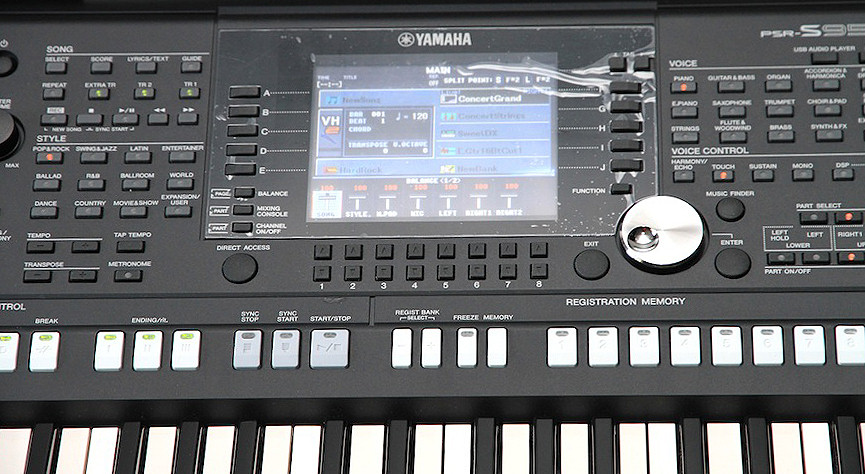 How To Change The Screen On Yamaha Psr S